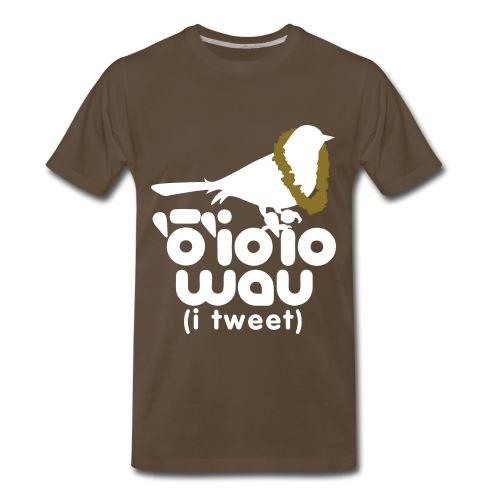 (Hawaiian) Twitter - 3X - Men's Premium T-Shirt