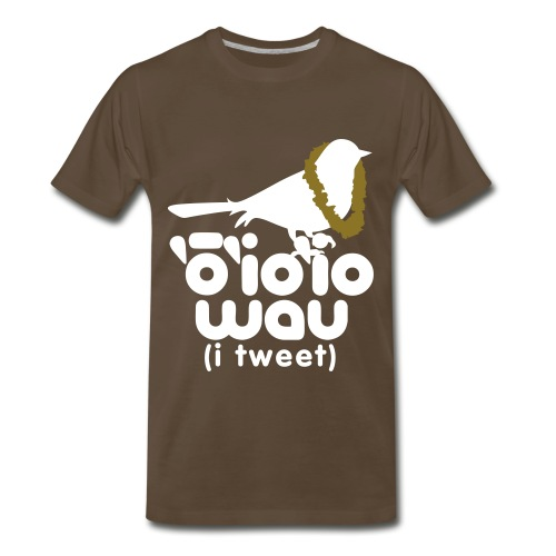 (Hawaiian) Twitter - 3X - Men's Premium T-Shirt