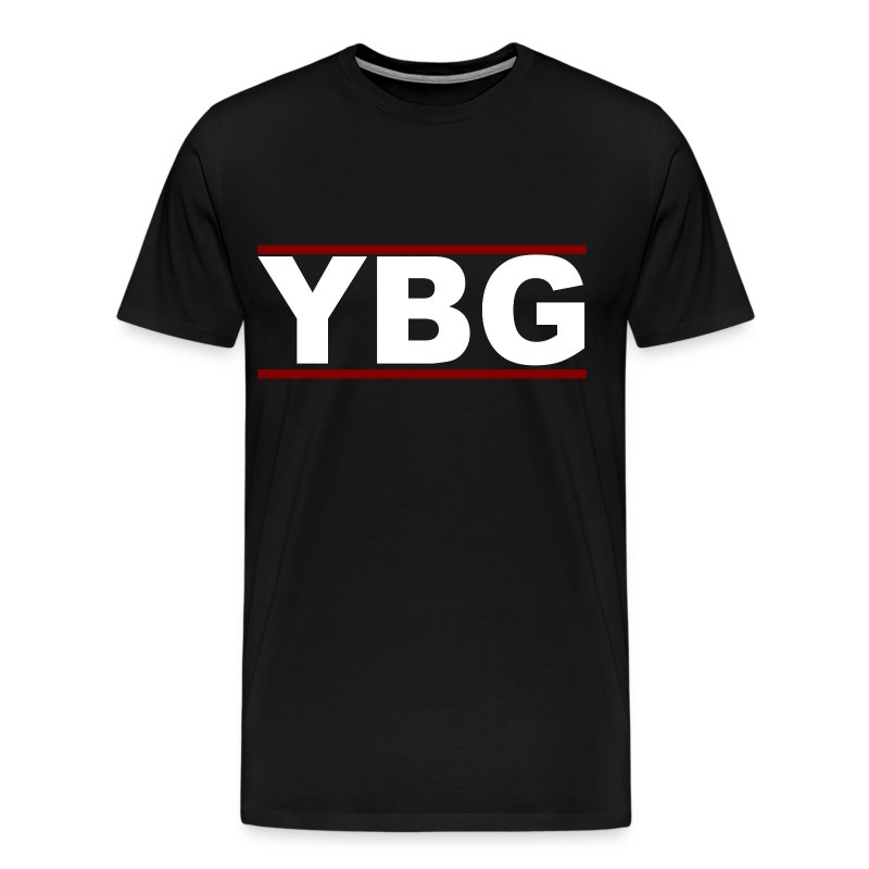 Ybg stripe black red white t shirt spreadshirt for Black white red t shirt