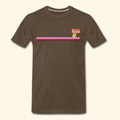 I Heart 8-Bit - Men's Premium T-Shirt