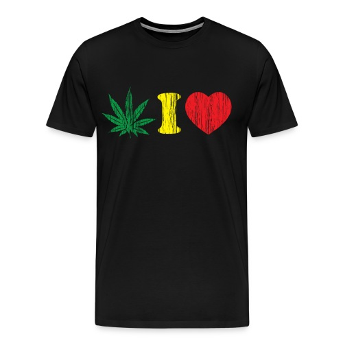 Weed I HEART - Men's Premium T-Shirt
