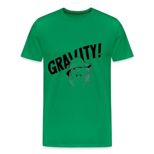 Gravity, sage color, images on both sides - Men's Premium T-Shirt