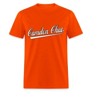 Men's FRONT/BACK: CC/duck homeboy (orange) - Men's T-Shirt