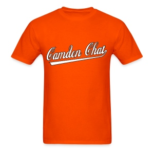 Men's FRONT/BACK: CC/duck homeboy (orange) - Men's T-Shirt