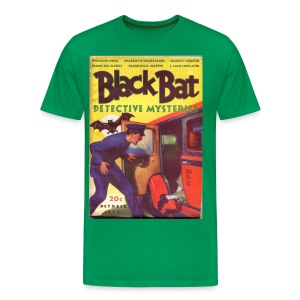 3XL Black Bat Detective Mysteries 1st Issue Hero Pulp  - Men's Premium T-Shirt