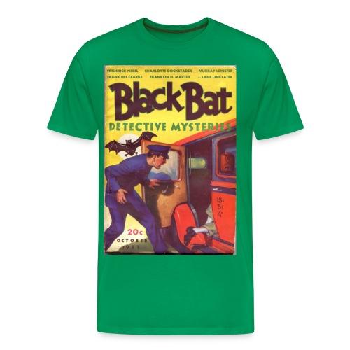 3XL Black Bat Detective Mysteries 1st Issue Hero Pulp  - Men's Premium T-Shirt