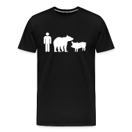 T-Shirts ~ Men's Premium T-Shirt ~ Man Bear Pig : The T-Shirt
