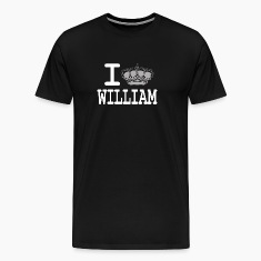 I love William - crown white T-Shirts