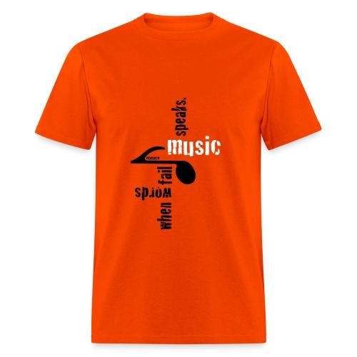 Music Speaks, by Obenco - Men's T-Shirt