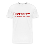 T-Shirts ~ Men's Premium T-Shirt ~ Diversity Lost My School Public Funding T-Shirt