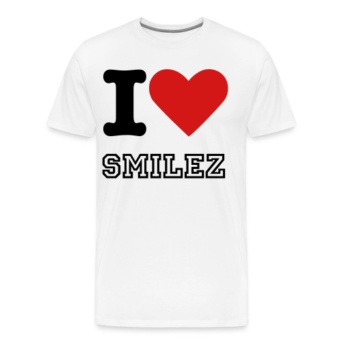 I LOVE SMILEZ | SUPPORT THE MOVEMENT - Men's Premium T-Shirt