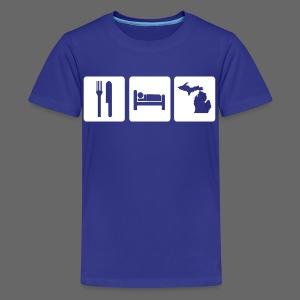 Eat Sleep Michigan Children's T-Shirt - Kids' Premium T-Shirt