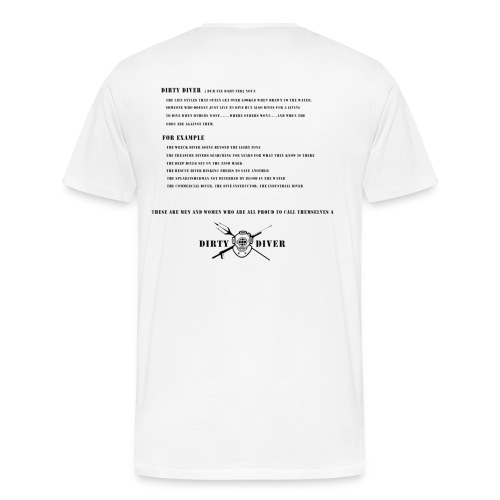 Dirty Diver Definition - Men's Premium T-Shirt