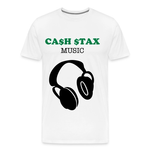 CA$H $TAX music t-shirt - Men's Premium T-Shirt