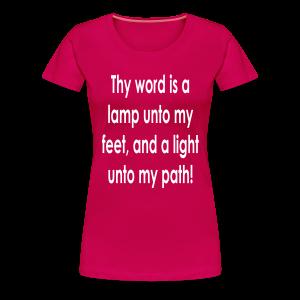 Thy word is a lamp  - Women's Premium T-Shirt