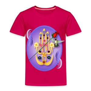 Hamsa and Flowers Oval - Toddler Premium T-Shirt