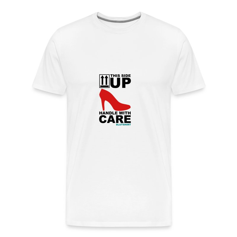 Men's Premium T-Shirt - slutshirt, a T-shirt to get your message trough: SLUT: Sexual Liberation Unveils Tenderness