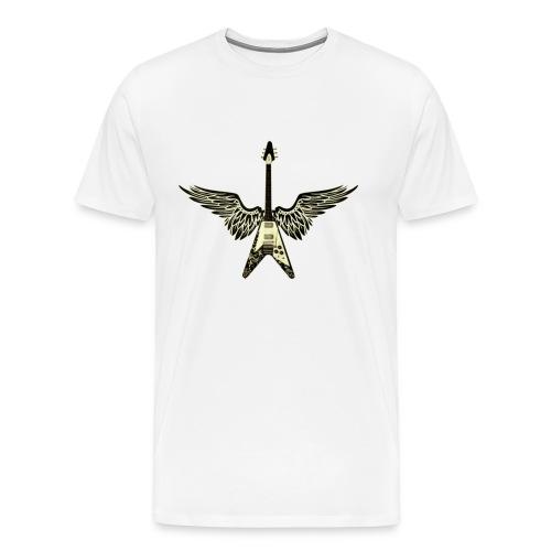Winged Guitar 3x - Men's Premium T-Shirt