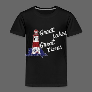 Vintage Great Lakes Great Time Lighthouse Style Toddler T=Shirt - Toddler Premium T-Shirt