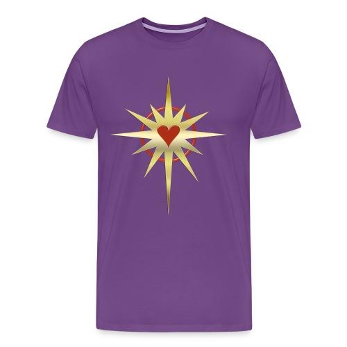 Heart Power - gold   men's heavyweight shirt - Men's Premium T-Shirt