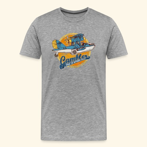 Gambler (Vintageprint) - Men's Premium T-Shirt