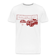 T-Shirts ~ Men's Premium T-Shirt ~ Billy Bob Turn Left! - Redneck NASCAR Bashing T-Shirt