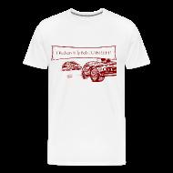 T-Shirts ~ Men's Premium T-Shirt ~ Billy Bob Turn Left! - Redneck NASCAR Bashing T-Shirt