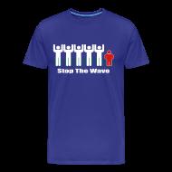 T-Shirts ~ Men's Premium T-Shirt ~ Men's Stop The Wave 3XL Logo T-Shirt