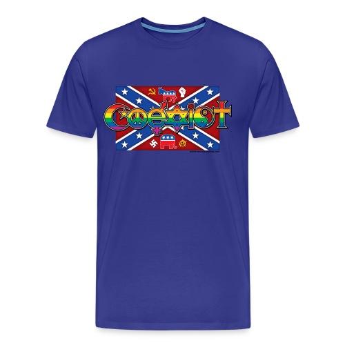 Men's Coexist Classic Front Print T-Shirt - Men's Premium T-Shirt