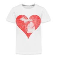 Baby & Toddler Shirts ~ Toddler Premium T-Shirt ~ Mi Distressed Heart Toddler T-Shirt