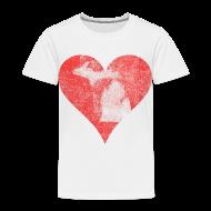 Baby & Toddler Shirts ~ Toddler Premium T-Shirt ~ Mi Distressed Heart Toddler T-Shirt