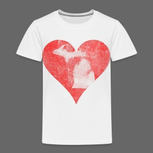 Mi Distressed Heart Toddler T-Shirt - Toddler Premium T-Shirt