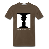 T-Shirts ~ Men's Premium T-Shirt ~ Optical Illusions Suck Funny T-Shirt