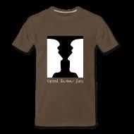 T-Shirts ~ Men's Premium T-Shirt ~ Optical Illusions Suck Funny T-Shirt