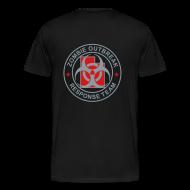 T-Shirts ~ Men's Premium T-Shirt ~ 2-UTLogo-MHvyWht (Silver& Red)