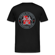 T-Shirts ~ Men's Premium T-Shirt ~ 2-UTLogo-M3XL-Full (Silver& Red)