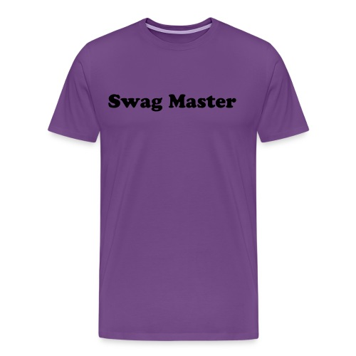Swag Master on the Front - Men's Premium T-Shirt