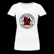 T-Shirts ~ Women's Premium T-Shirt ~ 1-UTLogo-FPlus-Full (Black & Red)