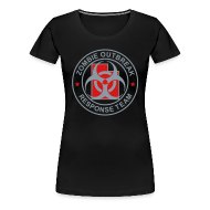 Women's T-Shirts ~ Women's Premium T-Shirt ~ 1-UTLogo-FPlus-Full (Silver & Red)
