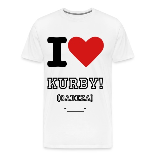 KurbY Face-______-/WHITE - Men's Premium T-Shirt