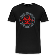 T-Shirts ~ Men's Premium T-Shirt ~ 1-ULogo-MHvyWht-Full (Silver & Red)