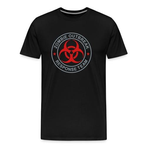 1-ULogo-MHvyWht-Full (Silver & Red) - Men's Premium T-Shirt