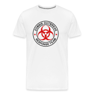 T-Shirts ~ Men's Premium T-Shirt ~ 1-ULogo-MHvyWht-Full (Black & Red)