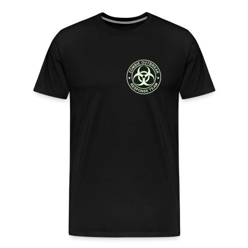 2-ULogo-MHvyWht (Glowing) - Men's Premium T-Shirt