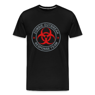 T-Shirts ~ Men's Premium T-Shirt ~ 2-ULogo-M3XL-Full (Silver& Red)