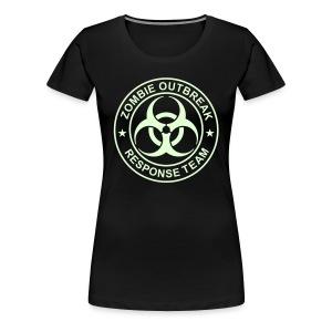 1-ULogo-FPlus-Full (Glowing) - Women's Premium T-Shirt