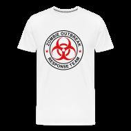 T-Shirts ~ Men's Premium T-Shirt ~ 2-ULogo-M3XL-Full (Black & Red)