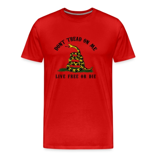 Don't Tread On Me - Red All Over - Men's Premium T-Shirt