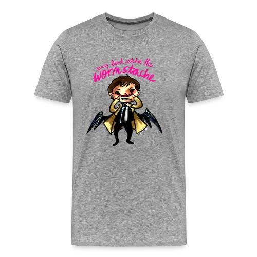 Early Bird Catches the Wormstache (DESIGN BY KARINA) - Men's Premium T-Shirt