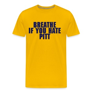 Breathe If You Hate Pitt - AD FREE - Men's Premium T-Shirt